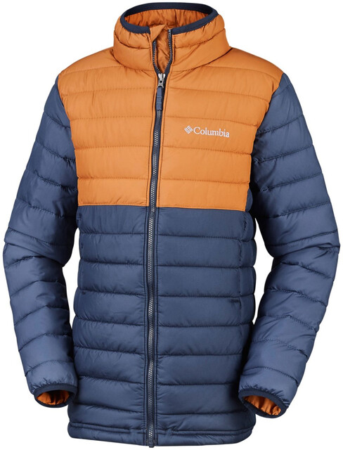 Columbia Powder Lite Jacke Jungen collegiate navycanyon gold
